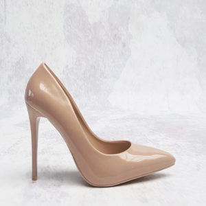 lak pumps nude