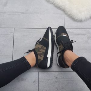Sneakers-gympen-veter-camouflage-soldier-armygreen