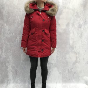 Long puffer jack red