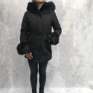 Flirty puffer jacket black