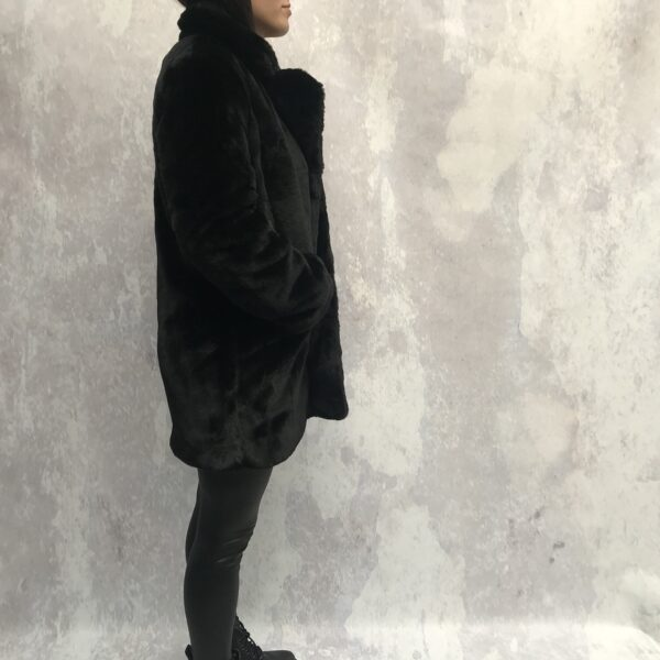teddy coat black